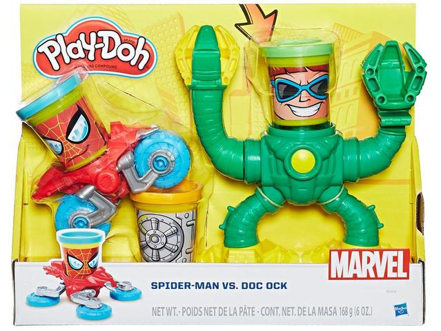 Imagem de Massinha Spider Man vs Doc Ock Play Doh Marvel