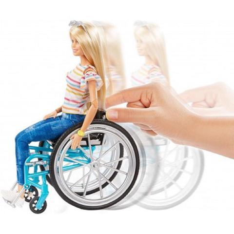 Imagem de Mattel bb barbie fab fashionistas cadeira de rodas ggl22