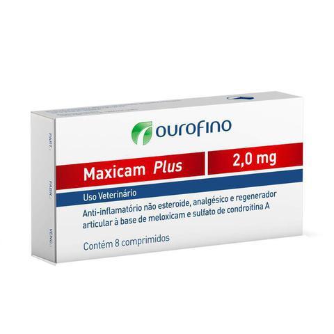 Imagem de Maxicam Plus Ourofino 2mg 8 Comprimidos