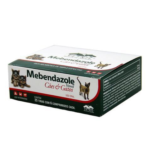 Imagem de Mebendazole Oral 150 comprimidos Vetnil Cães e Gatos