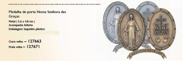 Imagem de Medalha de porta nossa senhora das graças