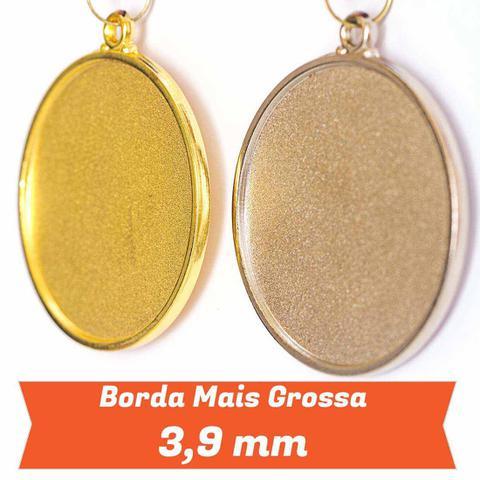 Imagem de Medalha Gigante AX Esportes 64mm Futebol em Alto Relevo 3D Dourada - FA489 (Pç)