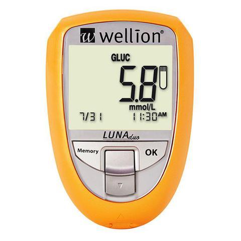 Imagem de Medidor de Colesterol e Glicose Luna Duo - Wellion