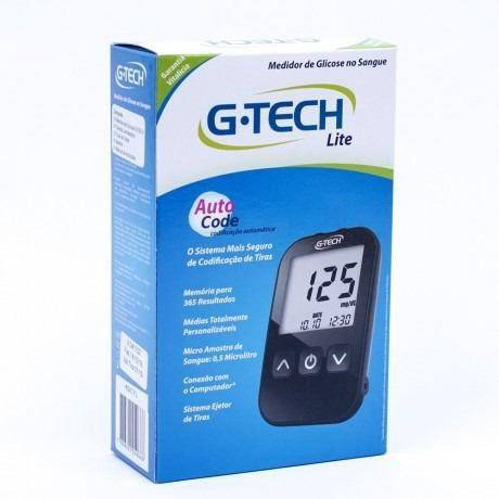 Imagem de Medidor De Glicemia G Tech Lite Kit Completo