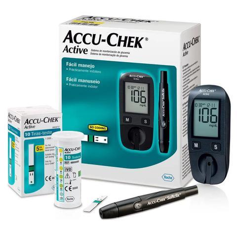 Imagem de Medidor de glicose accu chek active kit - roche