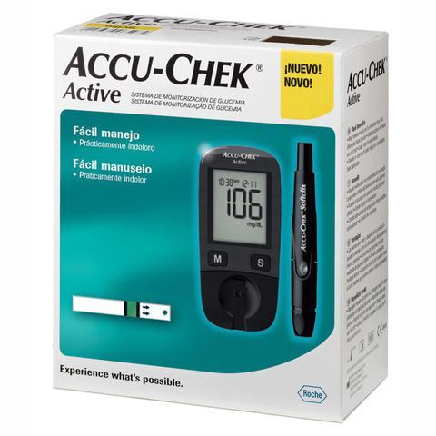 Imagem de Medidor de Glicose Completo Accu Chek Active Roche