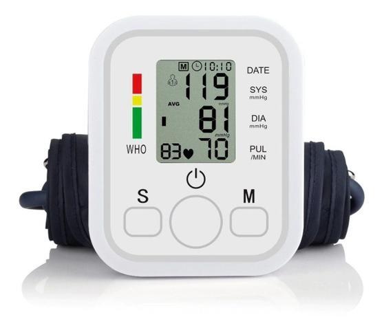 Imagem de Medidor de Pressão Arterial Automático Digital de Braço com Resultado em Voz + Carregador