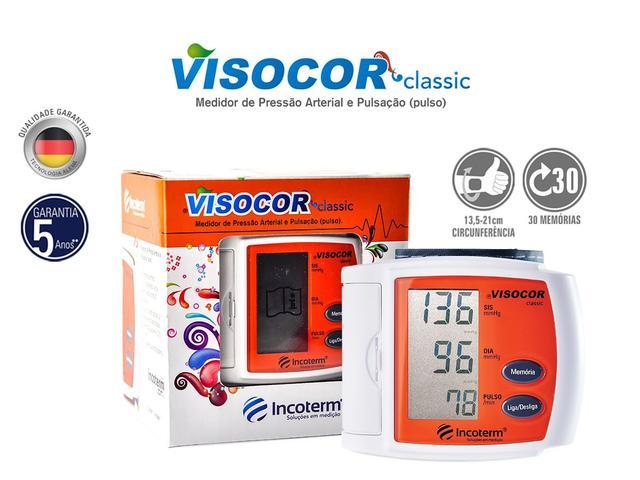 Imagem de Medidor de Pressão Digital Visocor Pulso Laranja Incoterm