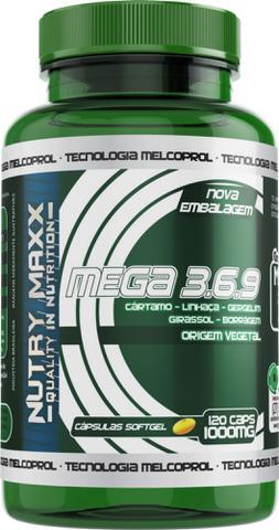 Imagem de Mega 3 6 9 - Óleo de cártamo, girassol, linhaça, gergelim e borragem - 120 cáps 1000mg - Melcoprol