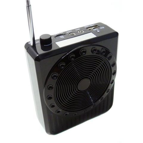Imagem de Megafone Amplificador Voz Microfone Professor Radio FM USB MP3 Fone Ouvido k150 Aula Palestra