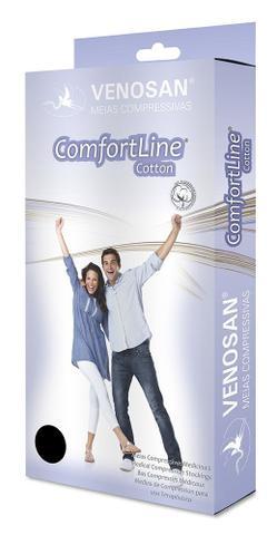 Imagem de Meia 3/4 Média Compressão Aberta Curta Bege (20-30 mmHg) AD Confortline Cotton - Venosan