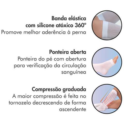 9e6a179ab Meia 3 4 Panturrilha 400S 18-23 Mmhg Anti-Trombo Ponteira Aberta ...