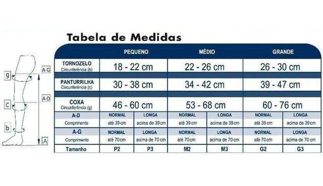 bc897c20d Meia 3 4 Panturrilha 972 Basic 20-30 mmHg Sigvaris Bege - Meia de ...