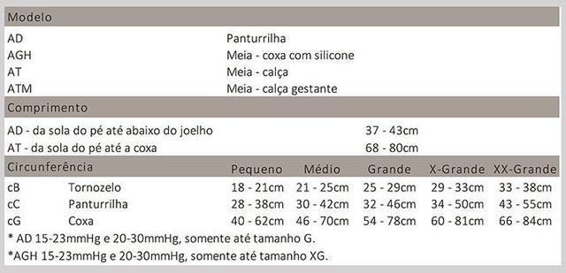 Imagem de Meia 7/8 Média Compressão Fechada Olinda (20-30 mmHg) AGH Legline - Venosan