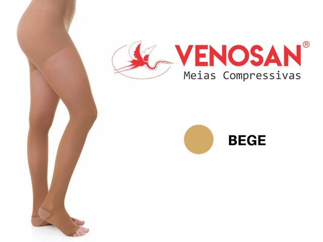Imagem de Meia Calça Venosan 6000 20-30mmHg Bege Pé Aberto