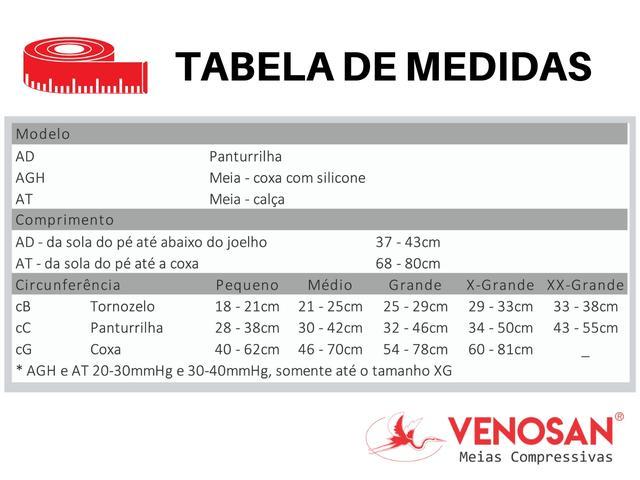 Imagem de Meia De Compressão 3/4 Venosan 6000 30-40mmHg Bege Pé Aberto