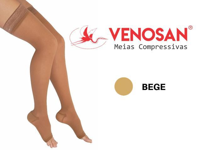 Imagem de Meia De Compressão 7/8 Venosan 6000 20-30mmHg Bege Pé Aberto