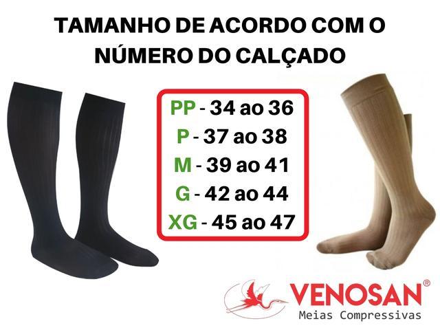 Imagem de Meia Elástica 3/4 Venosan Supportline Soft 18-22mmHg Preto