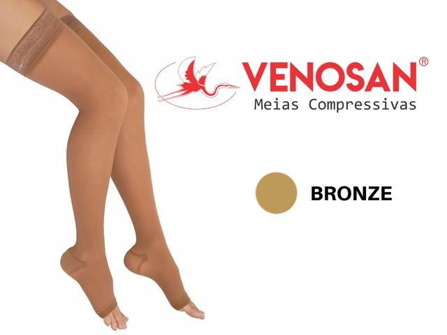 Imagem de Meia Elástica 7/8 Venosan 6000 30-40mmHg Bronze Pé Aberto