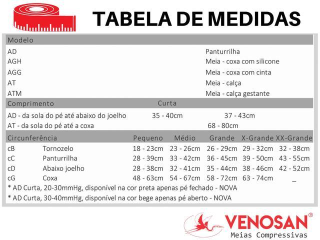 Imagem de Meia Elástica 7/8 Venosan Ultraline 4000 20-30mmHg Pé Aberto