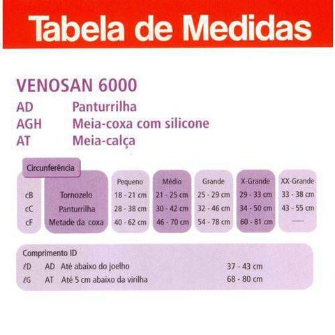 Imagem de Meia Venosan 6000 (20-30 mmhg) AD - Panturrilha/Bege/Aberta
