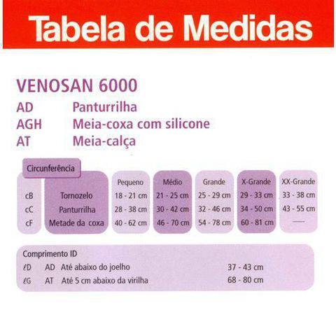 Imagem de Meia Venosan 6000 20-30 mmhg AT Bege Aberta Tamanho P