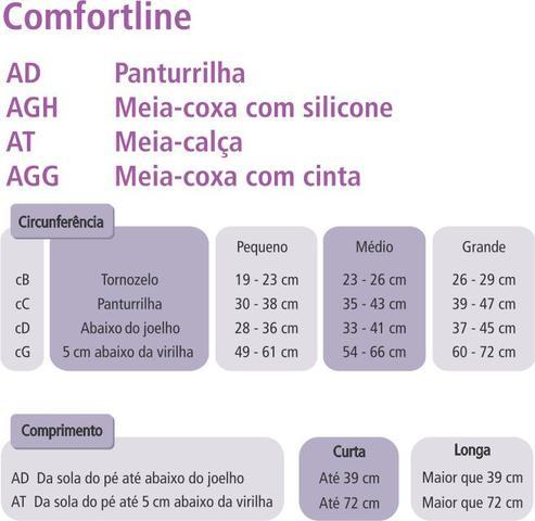 Imagem de Meia Venosan Comfortline 20-30 mmhg AD Bege Aberta Curta M