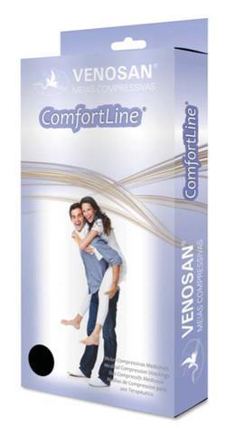 Imagem de Meia Venosan Comfortline Cotton com Algodão 20-30 mmhg AD Bege Aberta Curta XG