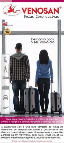 Imagem de Meias Compressivas Panturrilha Preta Supportline Soft da Venosan
