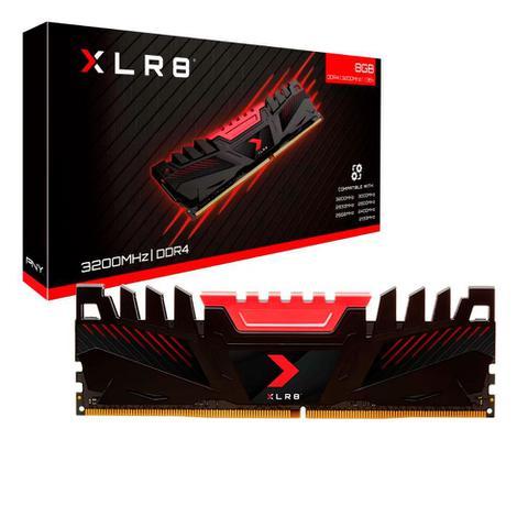 Imagem de MEM&OACUTERIA 8GB 3200 DDR4 XLR8 Gaming UDIMM Retail PNY MD8GD4320016XR