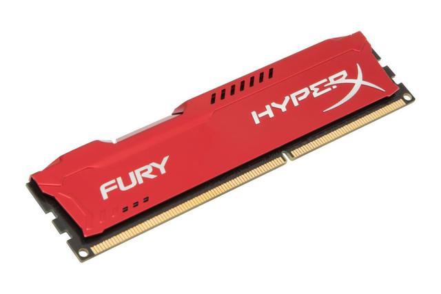 Imagem de Memória 8GB DDR3 Kingston HyperX Fury 1600MHz Red (HX316C10FR/8)