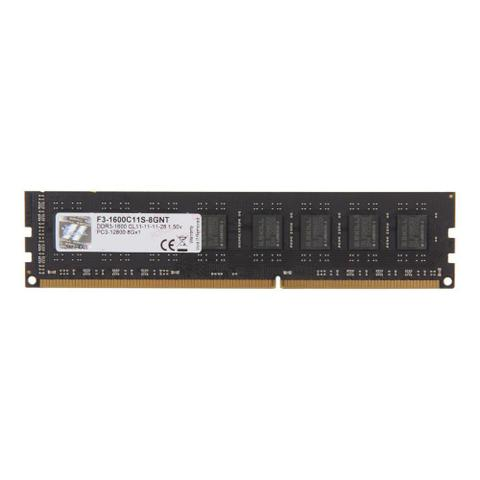 Imagem de Memória DDR3 - 8GB (1x 8GB) / 1.600MHz - G.Skill Value - F3-1600C11S-8GNT