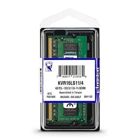 Imagem de Memória DDR3L 4GB Notebook 1600Mhz Kingston CL11 KVR16LS11/4