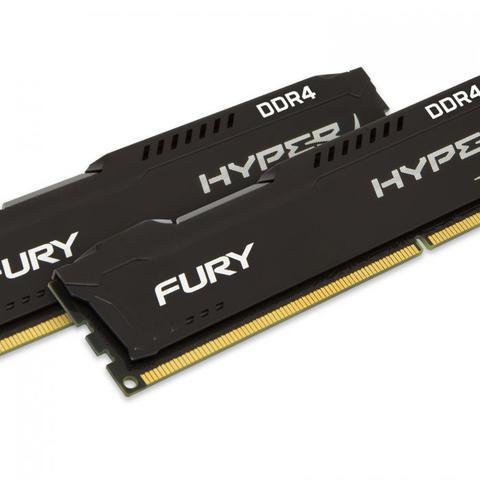 Imagem de Memoria Desktop Gamer DDR4 HYPERX HX424C15FB2K2/16 FURY 16GB KIT(2X8GB) 2400MHZ CL15 DIMM BLACK