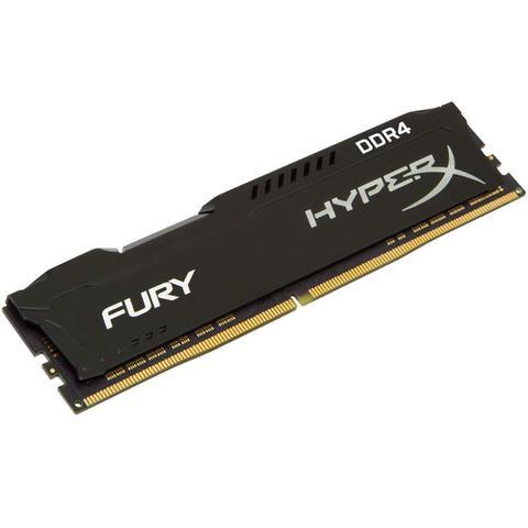 Imagem de Memória HyperX Fury, 8GB, 2400MHz, DDR4, CL15, Preto - HX424C15FB2/8
