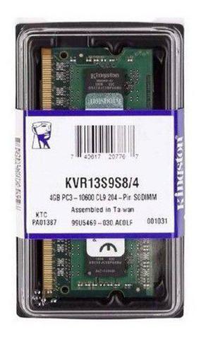 Imagem de Memória Notebook DDR3 4GB / 1333Ghz 10600 BOX Kingston