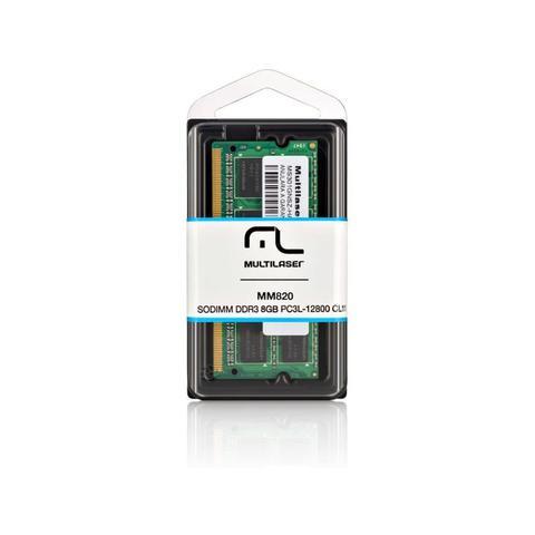 Imagem de Memória notebook multilaser ddr3 sodimm 8gb 1600 mhz  MM820