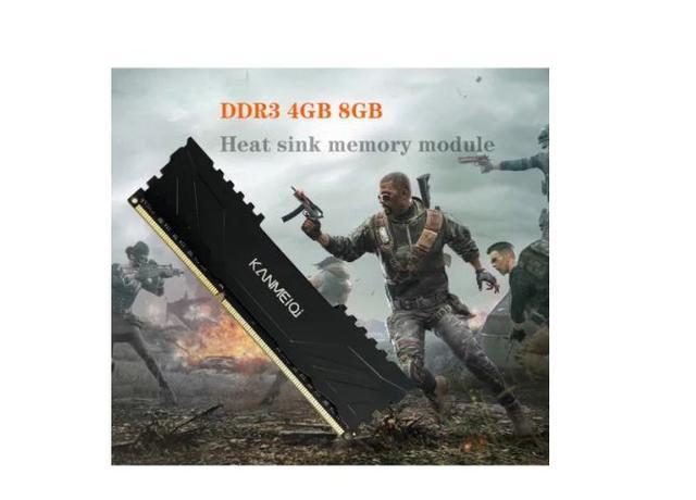 Imagem de Memória Pc Gamer Kanmeiqi 4gb Ddr3-1333mhz Pc3-10600s 1.5v