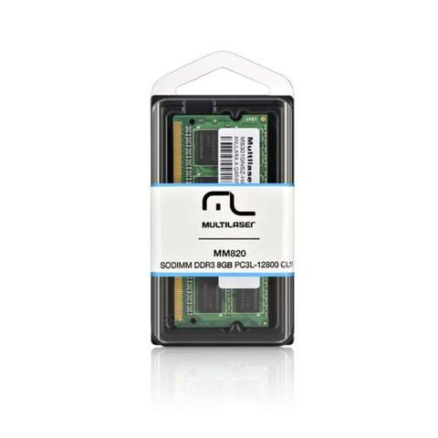 Imagem de Memória SODIMM DDR3 8gb PC3l-12800-Multilaser MM820
