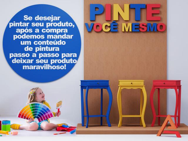 Imagem de Mesa Aparador Decoração Porta Vasos Enfeite Multi Uso Madeira MDF 1 Gaveta