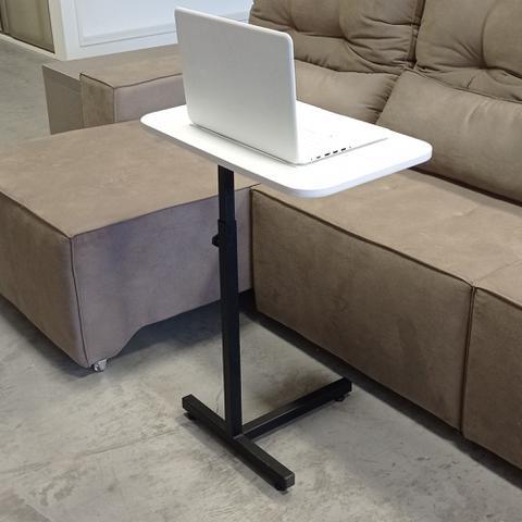 Imagem de Mesa de Aproximação para Usar o Notebook ou Comer no Sofá - Tampo Branco 60cm