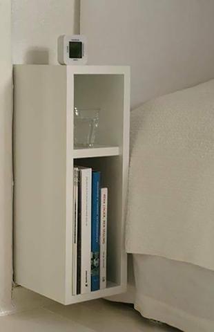 Imagem de Mesa de cabeceira de cama  para decoração com kit de instalação fred planejados