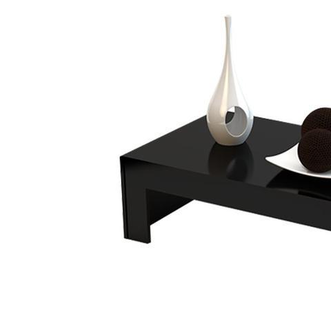 mesa de centro bella 90 preto brilho – dalla costa