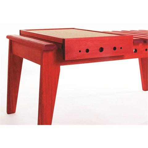 Imagem de Mesa de Centro com Bandeja Varanda Stain Vermelho - Mão  Formão