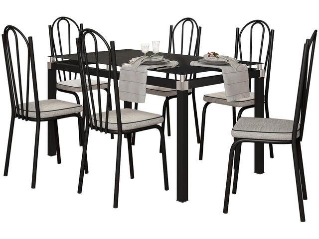 Imagem de Mesa de Cozinha 6 Cadeiras Retangular