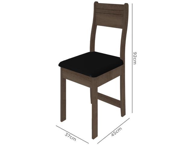 Imagem de Mesa de Jantar 4 Cadeiras Retangular Indekes