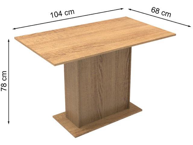 Imagem de Mesa de Jantar 4 Lugares Retangular