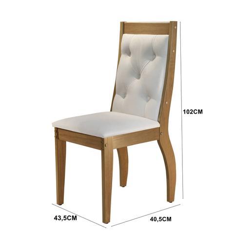 Imagem de Mesa de Jantar 6 Cadeiras  - Ágata 180/Ágata Rufato - Off/Imbúia/Creme
