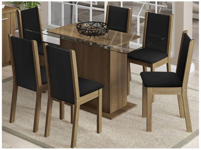 Imagem de Mesa de Jantar 6 Cadeiras Retangular