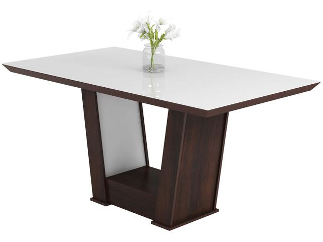 Imagem de Mesa de Jantar 6 Cadeiras Retangular Viero Móveis